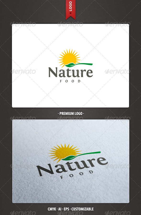 Nature Food Logo Template - Food Logo Templates