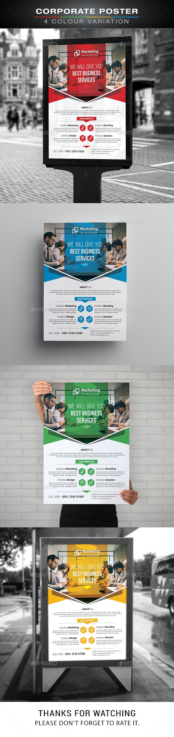 Corporate Poster - Signage Print Templates