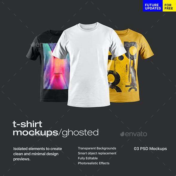 Ghosted T-Shirt Mockup