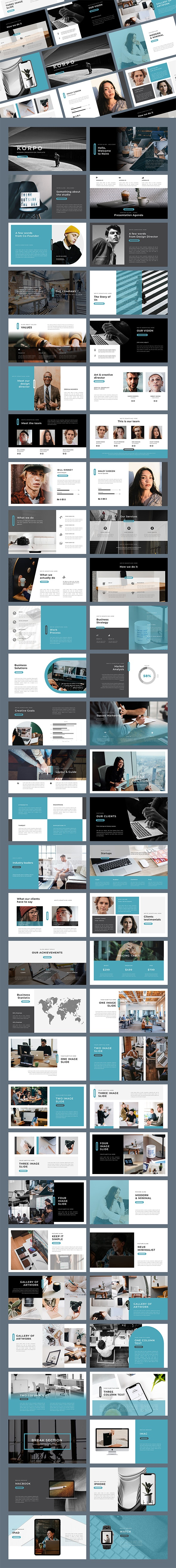 Korpo Google Slides Template - Google Slides Presentation Templates
