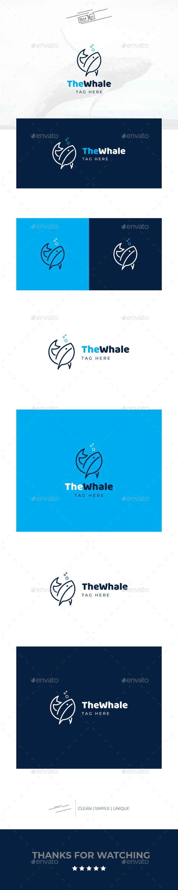 The Whale - Animals Logo Templates