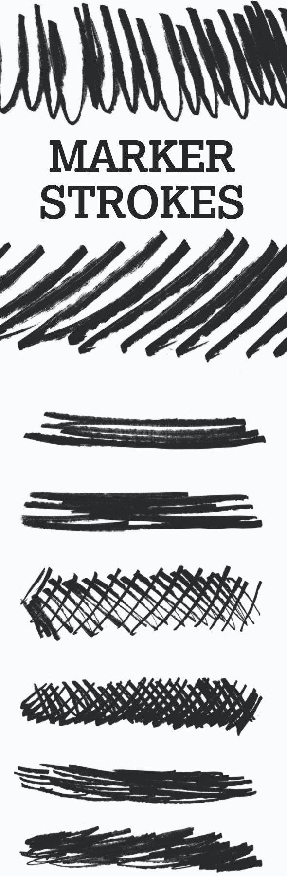 20 Permanent Marker Strokes - Brushes Photoshop