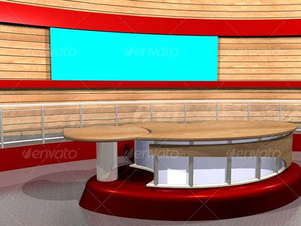 3D-TV_Studio_B_01 - Business Backgrounds