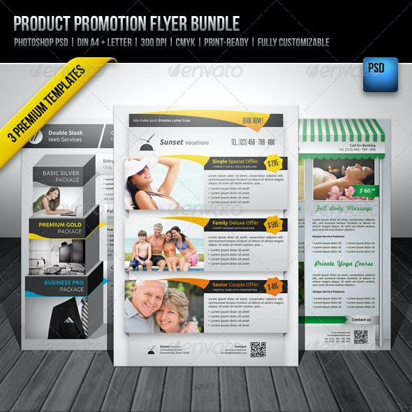 Product Promotion Flyer Bundle