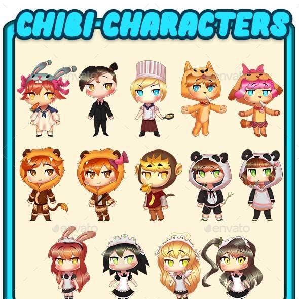 Cute Chibi Characters Pack