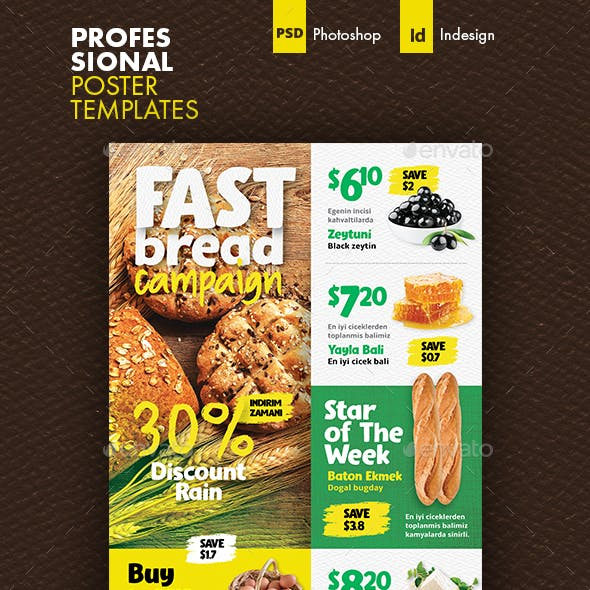 Supermarket Poster Templates