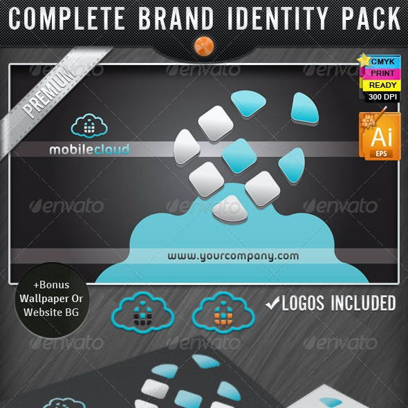 Phone Cloud Mobile IT Business Identity Designs