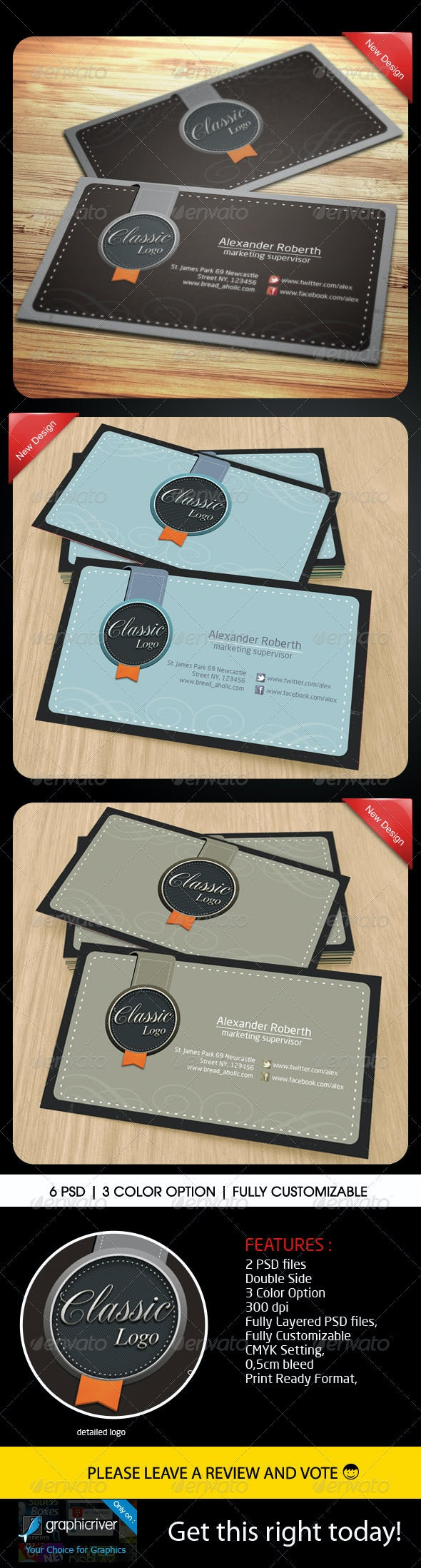 Classic Name Card - Retro/Vintage Business Cards
