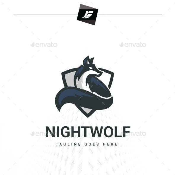 Night Wolf Logo Template