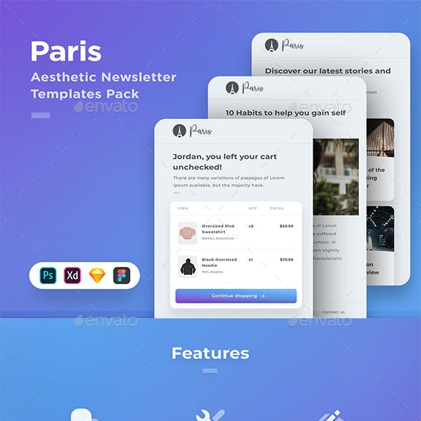 Paris - 15 Newsletter Templates