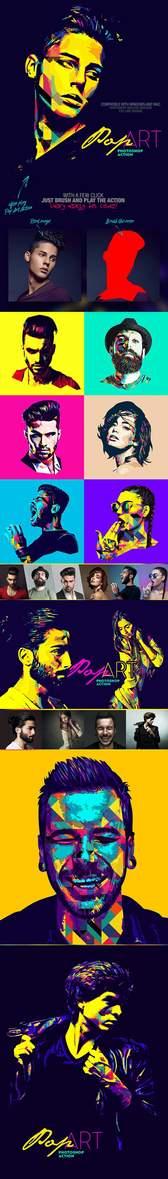 Pop Art Photoshop Action - Photo Effects Actions