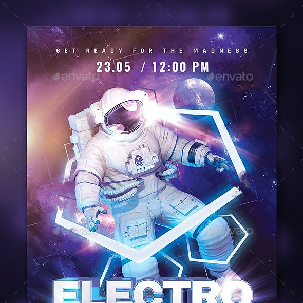 Party flyer Electro Space