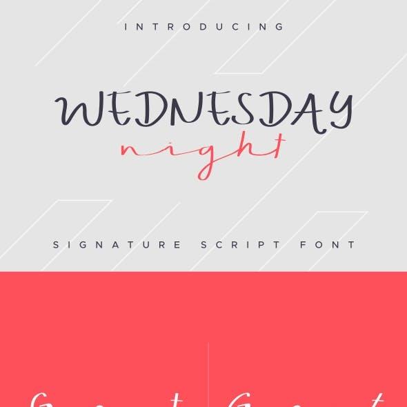 WEDNESDAY Font Handwriting