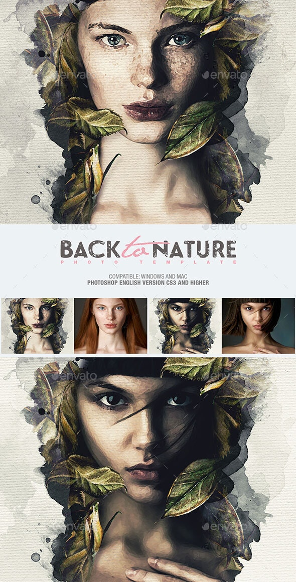 Back To Nature Photo Template - Artistic Photo Templates