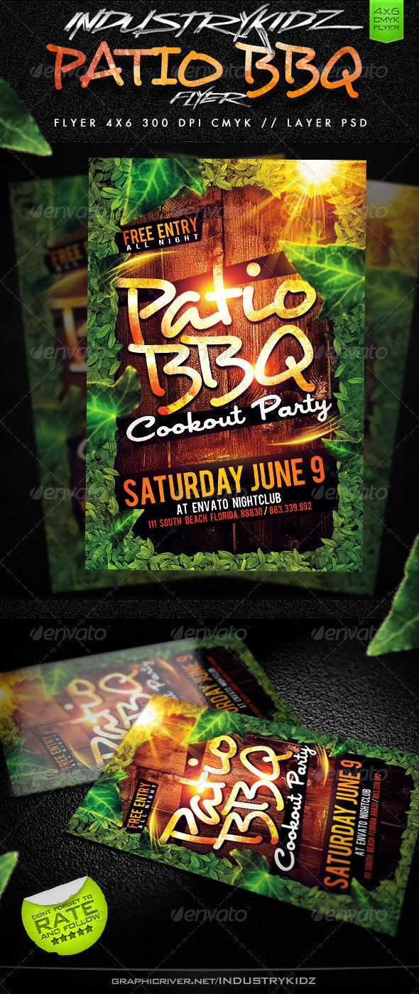 Patio BBQ Party Flyer - Miscellaneous Events
