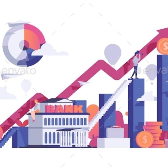 Business People Finance Bank Vector Illustration