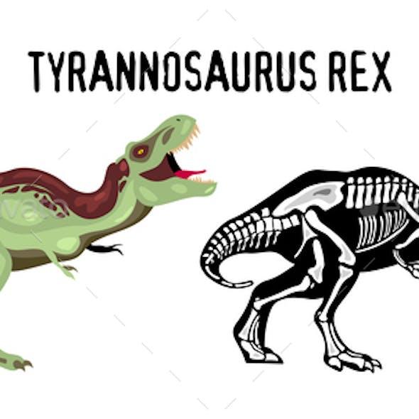 Tyrannosaur Rex Vector Illustration