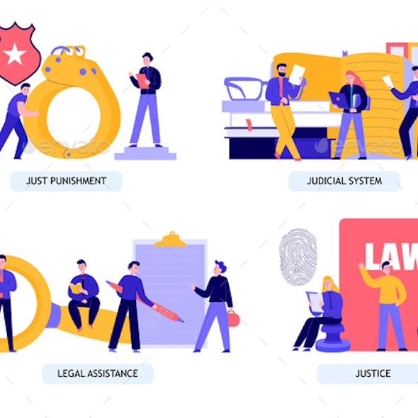 Law Justice Concept Compositions