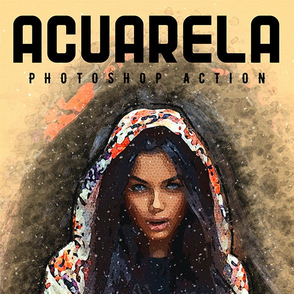 Acuarela - Watercolor Photoshop Action