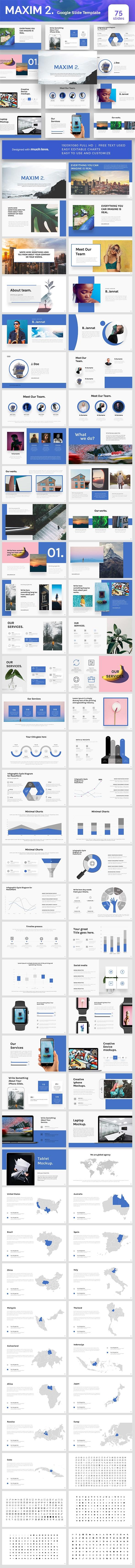 Maxim 2 Google Slides Presentation Template - Google Slides Presentation Templates