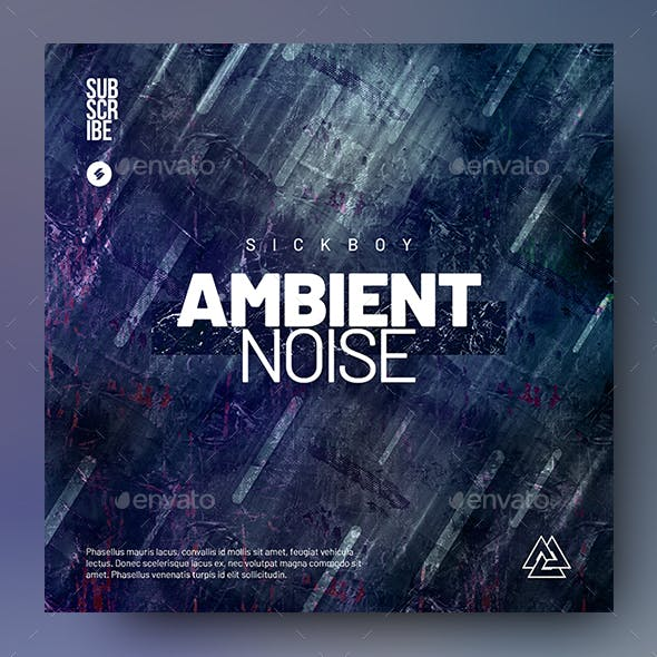 Ambient Noise - Music Album Cover Artwork Template