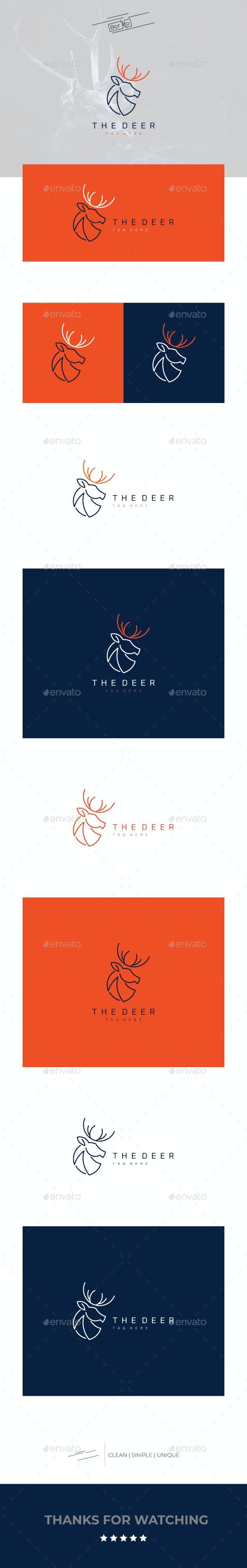 The Deer - Animals Logo Templates