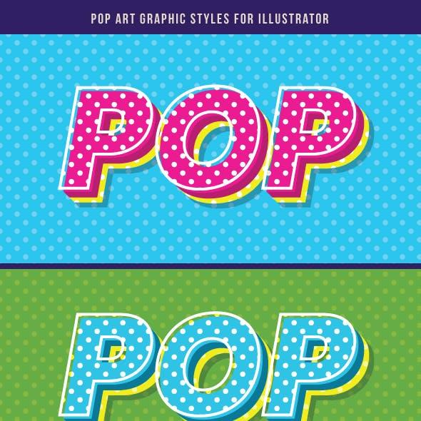 Pop Art Graphic Style For Illustrator