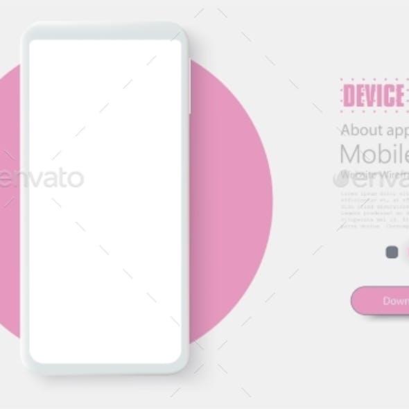 Smartphone Frame Less Blank Screen. Mockup Generic