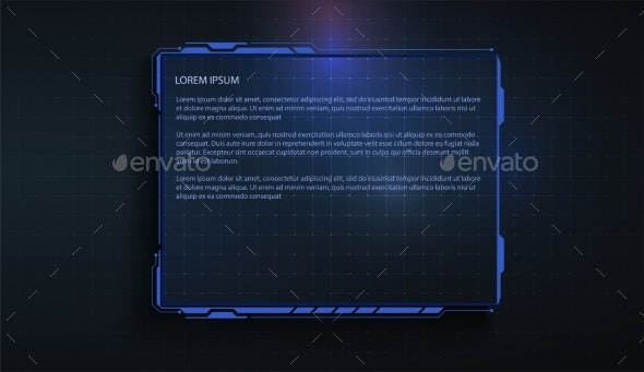 Futuristic Touch Screen Of User Interface Modern By Wisp01 90 Graphicriver