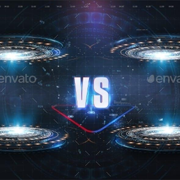 Versus Futuristic Design Battle Headline