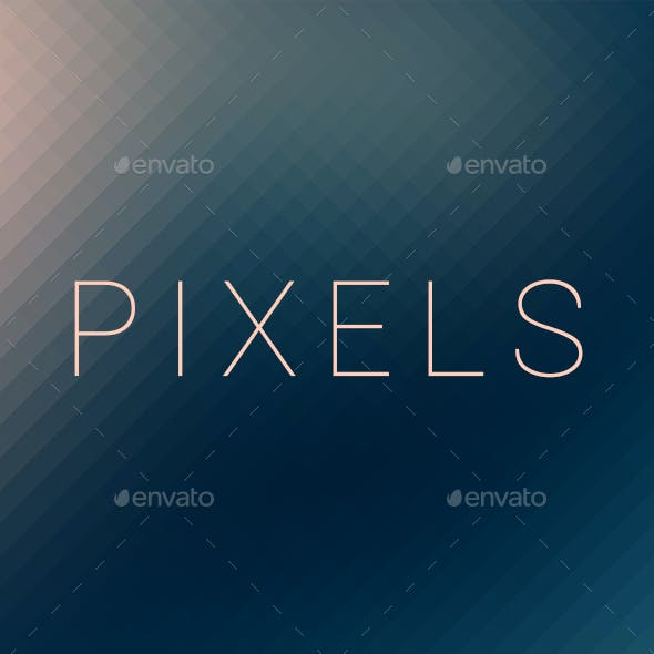 Pixels | Pixelated Backgrounds | Vol. 03