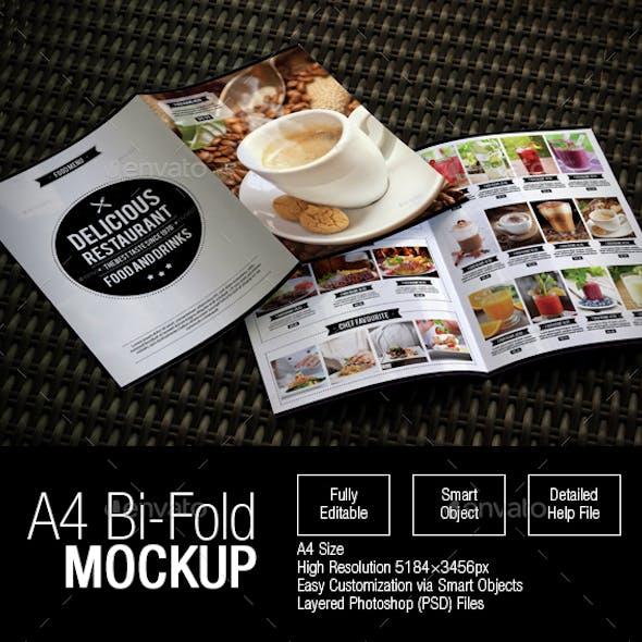 A4 Bi-Fold Mockup