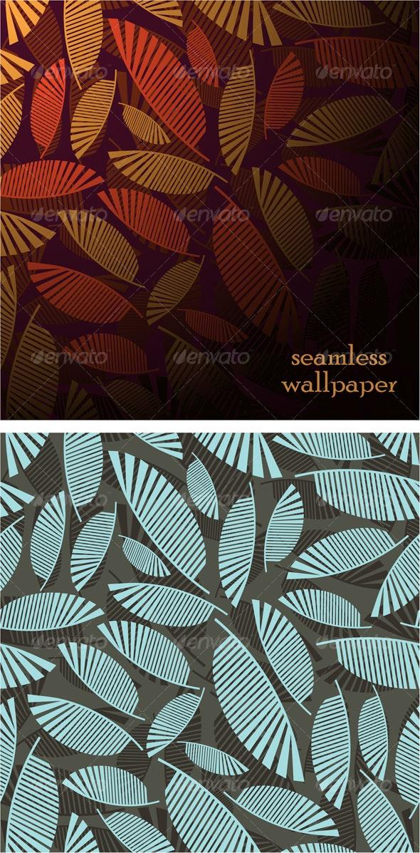 Vector seamless wallpaper - Backgrounds Decorative