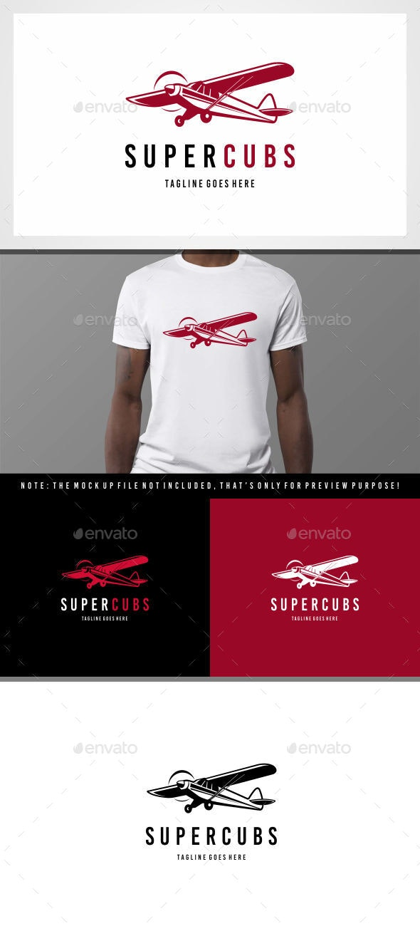 Airplanes - Super cubs logo - Symbols Logo Templates