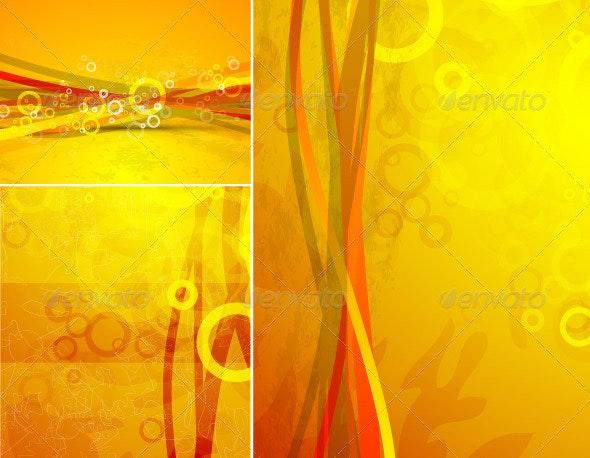 Orange Wavy Backgrounds - Backgrounds Decorative