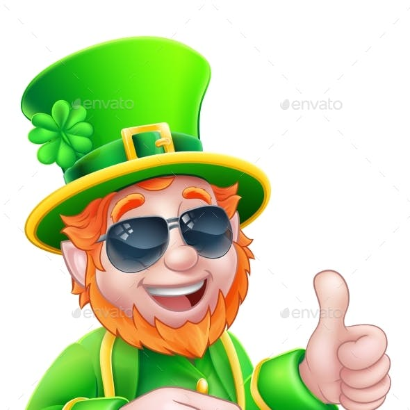 Leprechaun St Patricks Day Cartoon Mascot