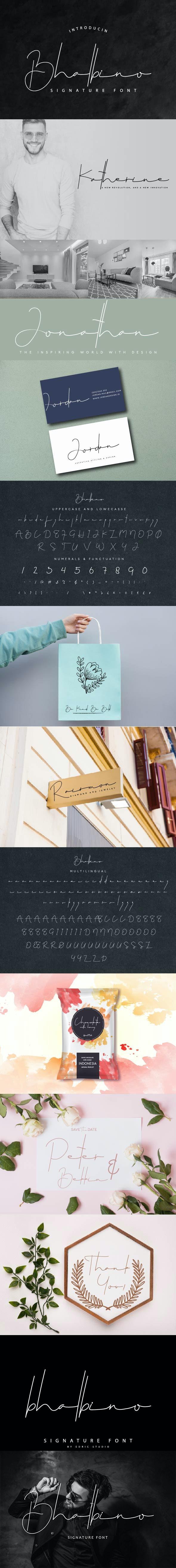 Bhalbino Signature Font - Handwriting Fonts