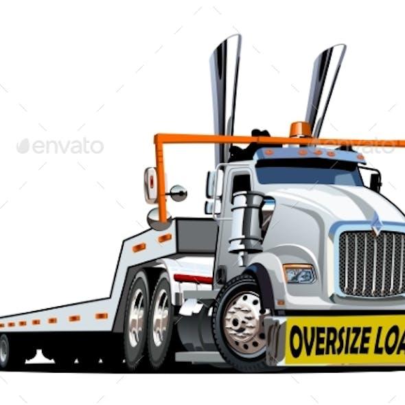 Cartoon Oversize Load Transporter