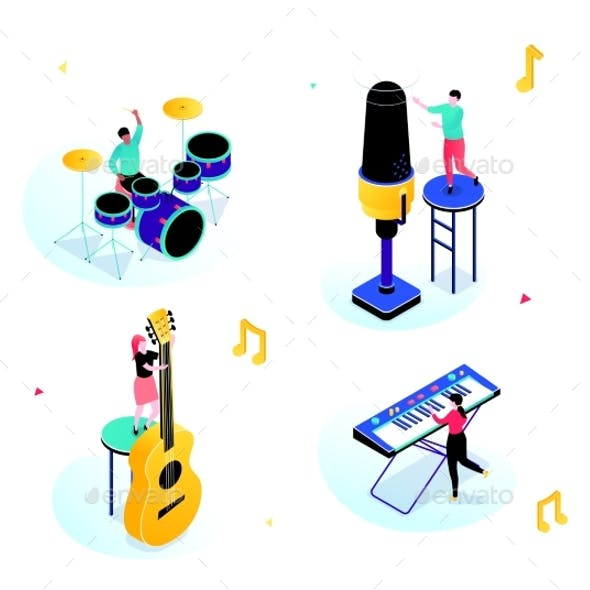 Music Party - Modern Isometric Scenes
