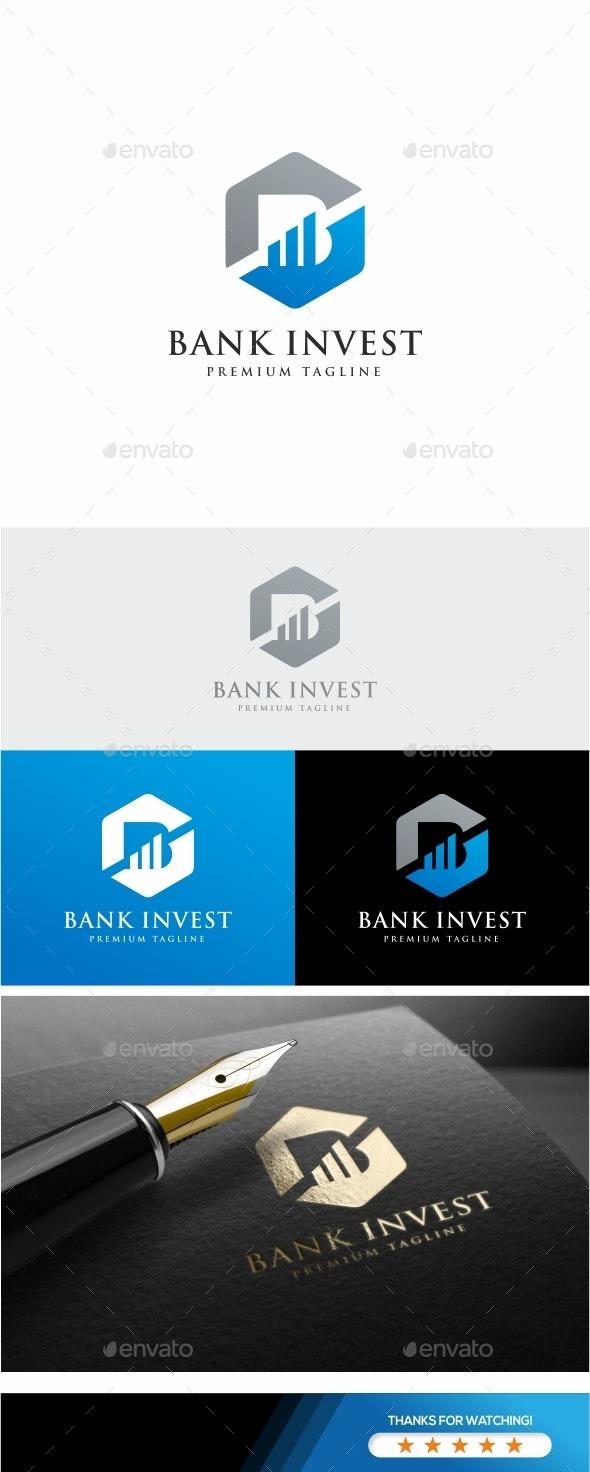 Bank Invest B Letter Logo - Letters Logo Templates