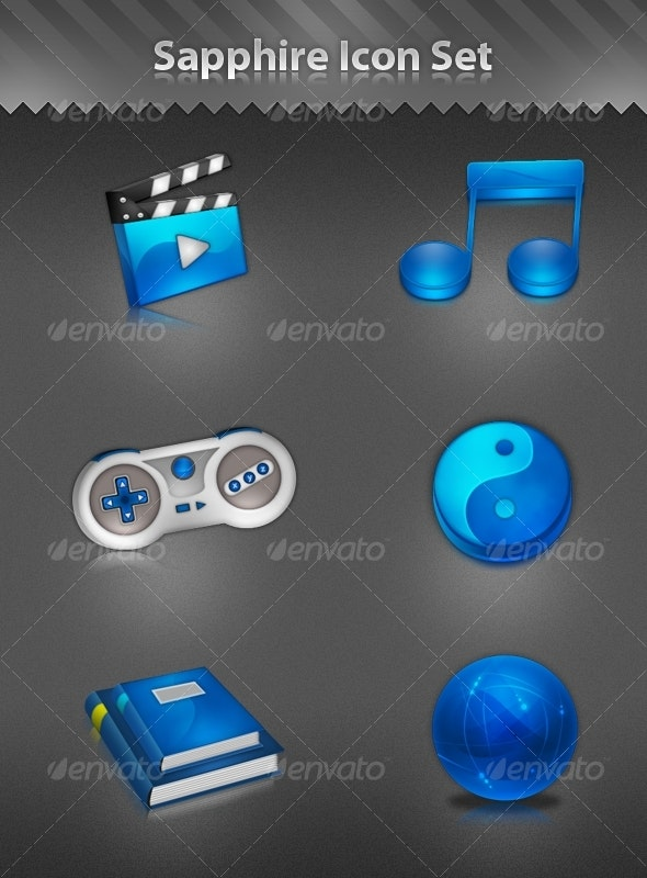 Sapphire Icon Set - Web Icons