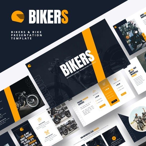 Bikers - Motorcycle & Bike Google Slides Template