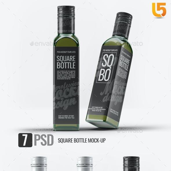 Square Glass Bottle Mock-Up v.1