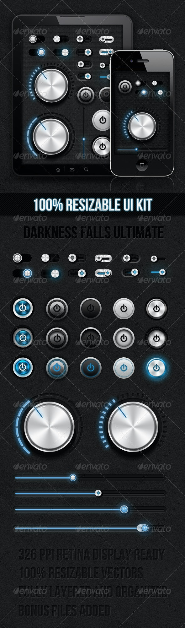 Dark Ui Kit - Darkness Falls Ultimate