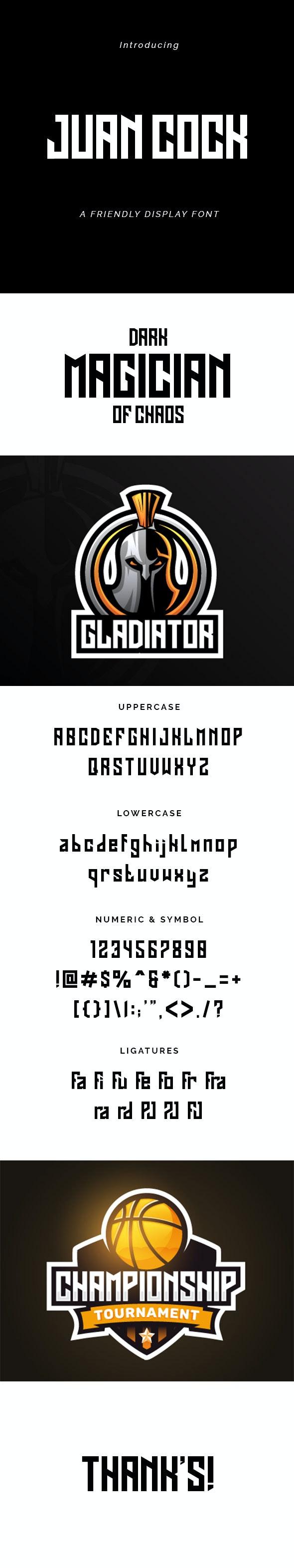Juan Cock Font - Cool Fonts