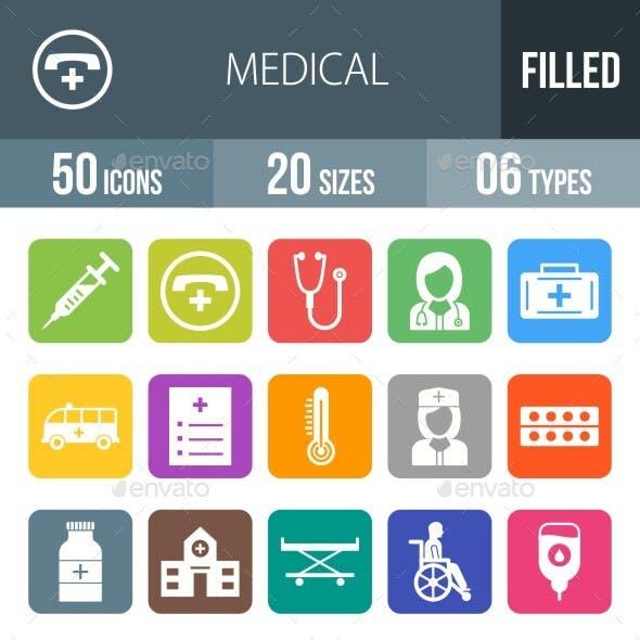 Medical Filled Round Corner Icons Season II