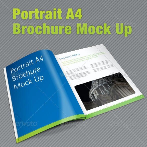 A4 Portrait Brochure Mock Up