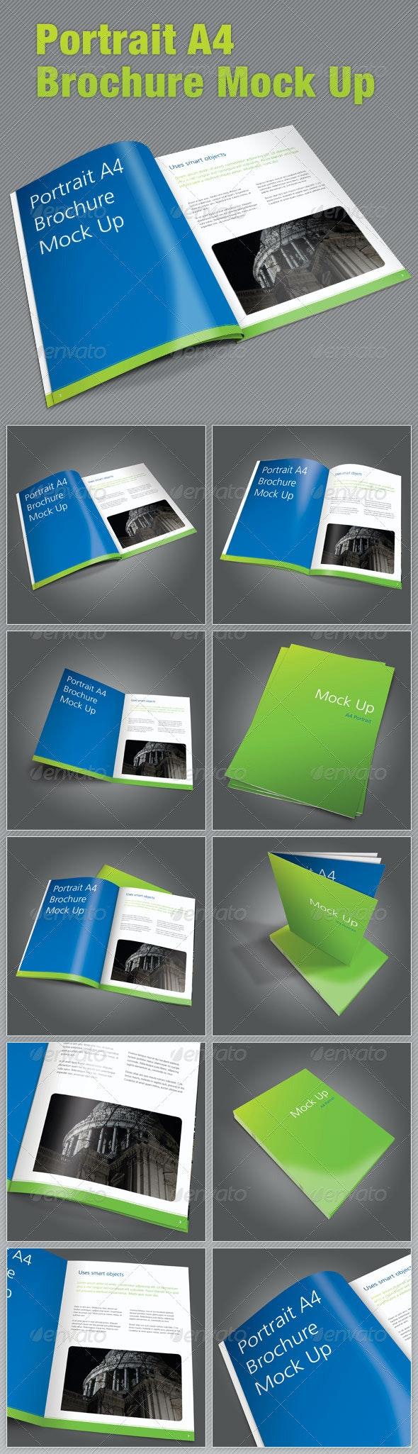 A4 Portrait Brochure Mock Up - Brochures Print