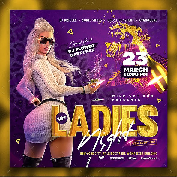 Party Flyer Ladies Night