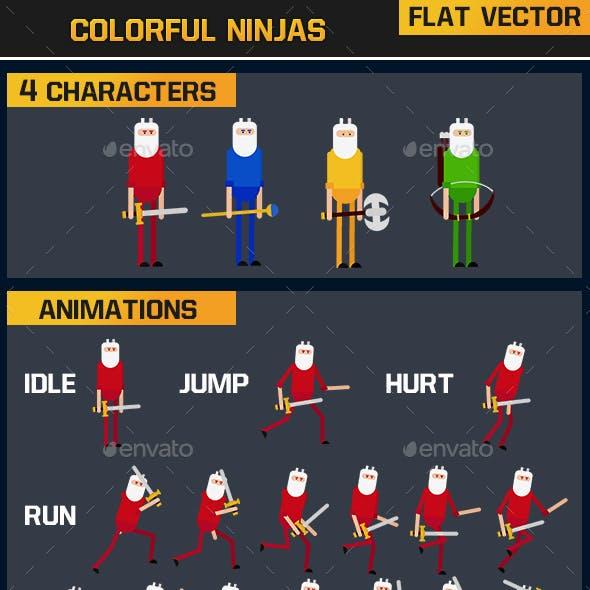 Colorful Ninjas Flat